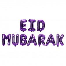 EID MUBARAK - Foil Balloon Purple 11 pieces