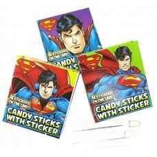 Candy Sticks With Sticker  - Superman