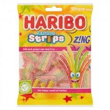 Haribo Rainbow Strips Z!ng Share Bags 130g