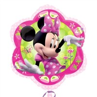 Disney Minnie Mouse Pink Flower Junior Shape 35cm x 38cm (14inch x 15inch)