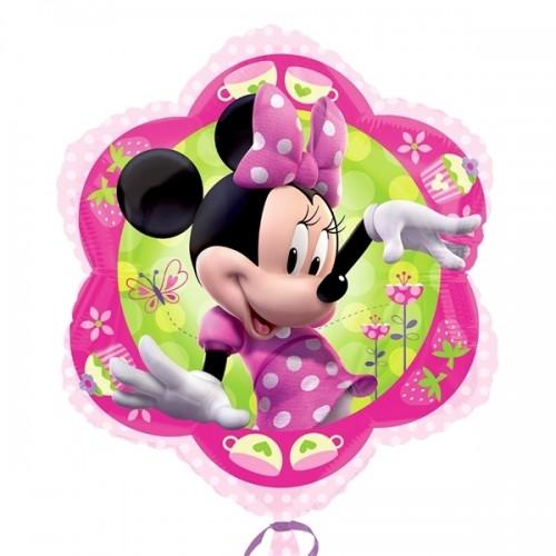 Disney Minnie Mouse Pink Flower Junior Shape 35cm x 38cm (14inch x 15inch)