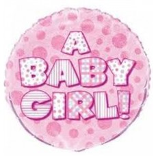 Prism Pink Foil Baby Girl Balloon 45.7cm18inch