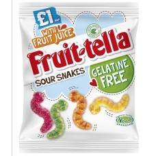 Fruit-tella Sour Snakes - Vegetarian - Gelatin Free