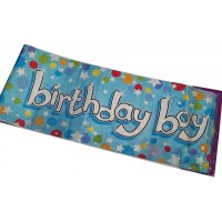 Giant Party Banner Boy - Happy Birthday 2.7m/9ft Long