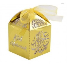 Eid Mubarak Favour Box Lasercut - Gold