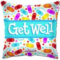Foil Helium Get Well Soon Balloon 45.7cm/18inch