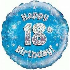 Happy 18th Birthday blue Balloon 45cm / 18inch