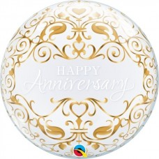 Happy Anniversary Bubble Balloon 56cm/22inch