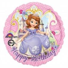 Disney Sofia The First Happy Birthday Foil Balloon 43cm/17inch