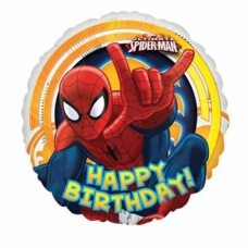 Spiderman Happy Birthday Foil Balloon 43cm/17inch