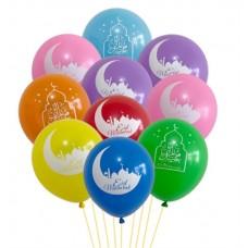 Eid Mubarak Latex Balloons Design 2 - Pack of 10