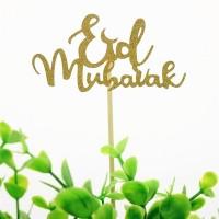 Cake Toppers Eid Mubarak - Gold