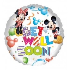 Disney Mickey Mouse Get Well Soon Helium Balloon 43cm/17inch