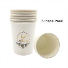 Eid Mubarak Cup - Pack of six