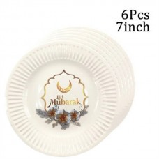 Eid Mubarak 7 inch Plate - Pack of six