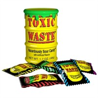 Toxic Waste Yellow Drum Extreme Sour Candy 1.5oz (42g)